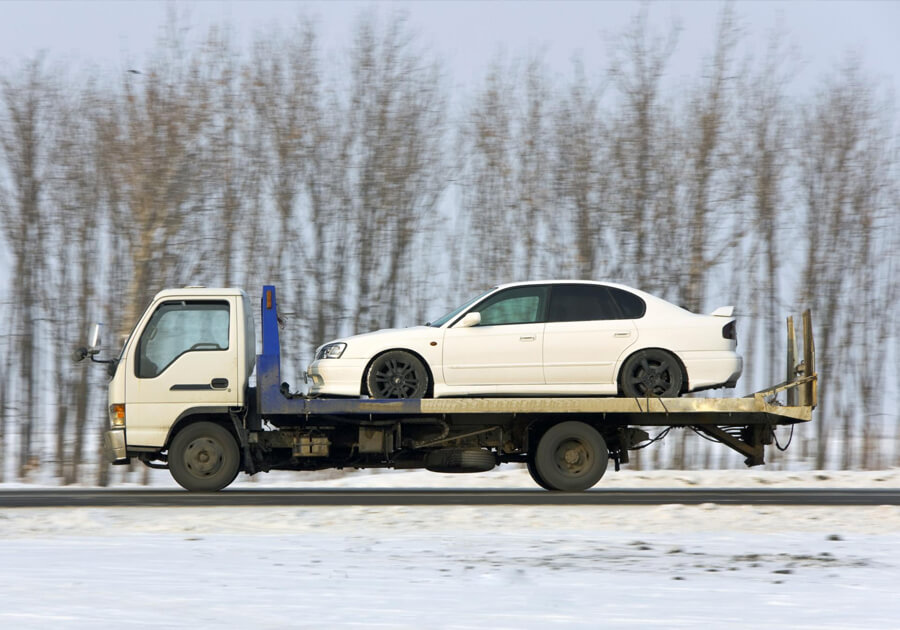 This is a picture of a garland towing service.